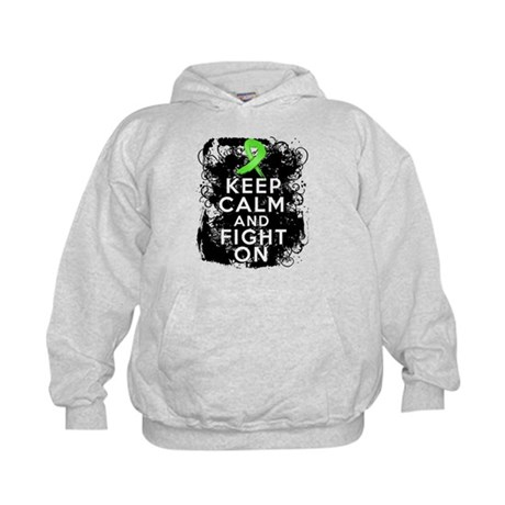 Lymphoma Keep Calm and Fight On Kids Hoodie