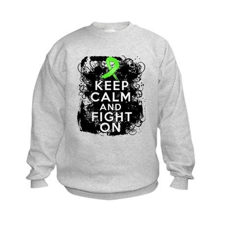 Lymphoma Keep Calm and Fight On Kids Sweatshirt