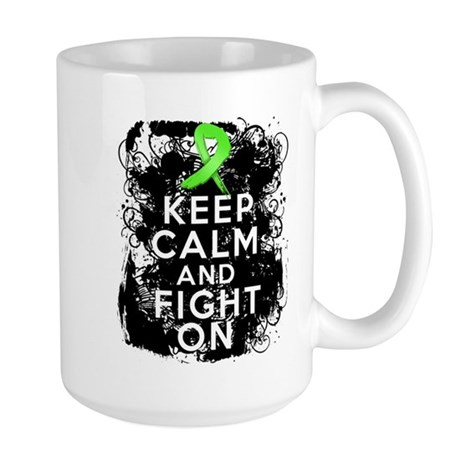 Lymphoma Keep Calm and Fight On Large Mug