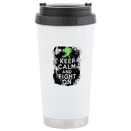 Lymphoma Keep Calm and Fight On Ceramic Travel Mug