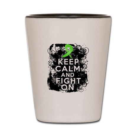 Lymphoma Keep Calm and Fight On Shot Glass