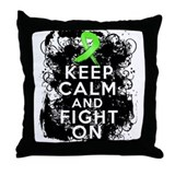 Lymphoma Keep Calm and Fight On Throw Pillow