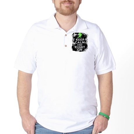 Lyme Disease Keep Calm and Fight On Golf Shirt