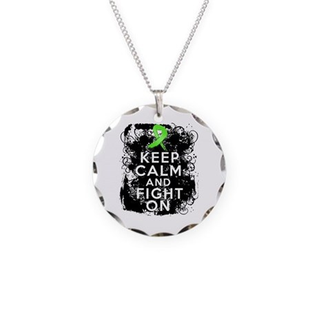 Lyme Disease Keep Calm and Fight On Necklace Circl