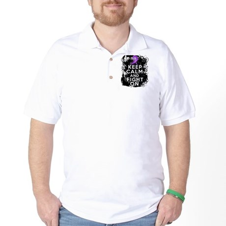 Lupus Keep Calm and Fight On Golf Shirt