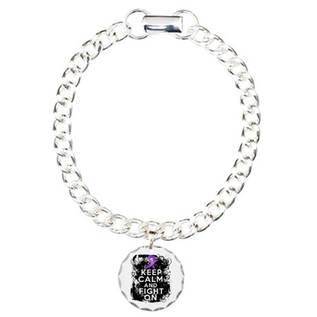 Lupus Keep Calm and Fight On Charm Bracelet, One C