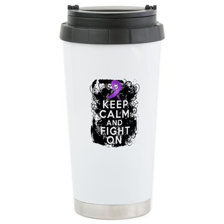 Lupus Keep Calm and Fight On Ceramic Travel Mug