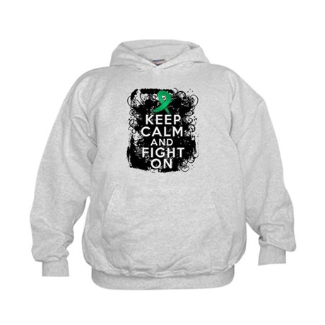Liver Disease Keep Calm and Fight On Kids Hoodie