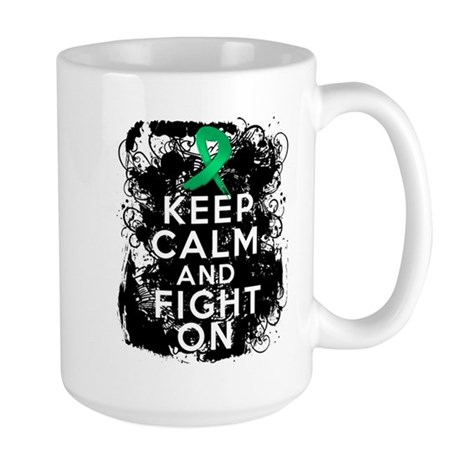 Liver Disease Keep Calm and Fight On Large Mug