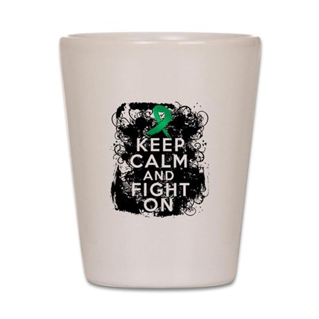 Liver Disease Keep Calm and Fight On Shot Glass