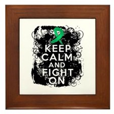 Liver Disease Keep Calm and Fight On Framed Tile
