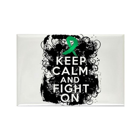 Liver Disease Keep Calm and Fight On Rectangle Mag