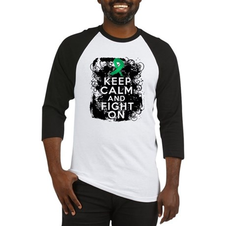 Liver Cancer Keep Calm and Fight On Baseball Jerse