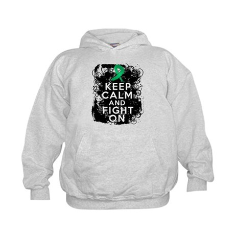 Liver Cancer Keep Calm and Fight On Kids Hoodie