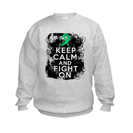 Liver Cancer Keep Calm and Fight On Kids Sweatshir