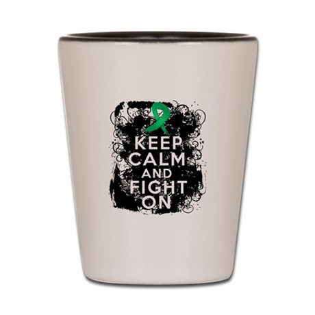 Liver Cancer Keep Calm and Fight On Shot Glass