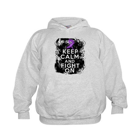 Leiomyosarcoma Keep Calm and Fight On Kids Hoodie
