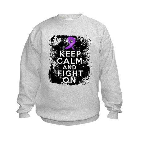 Leiomyosarcoma Keep Calm and Fight On Kids Sweatsh