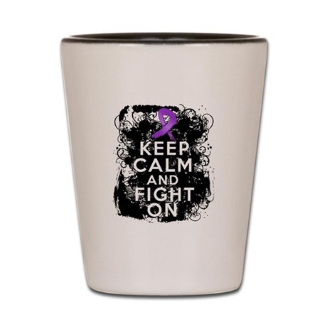 Leiomyosarcoma Keep Calm and Fight On Shot Glass