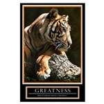 Large Greatness Motivational Poster
