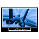 Lead With Vision Motivational Poster