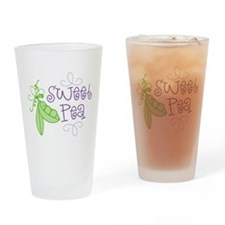 Sweet Pea Drinking Glass
