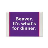 Funny Beaver Rectangle Magnet