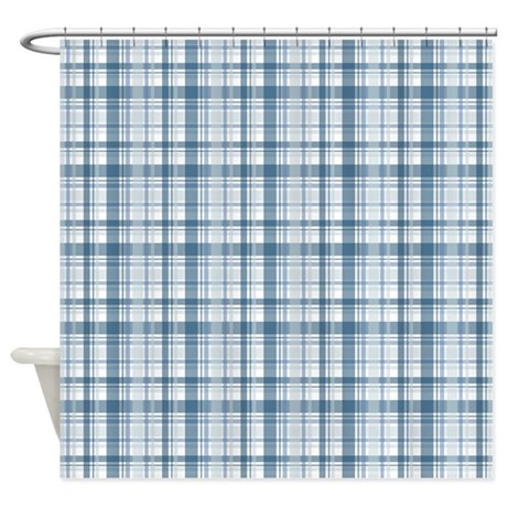 baby bathroom d cor baby boy blue plaid print shower curtain
