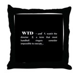 Watch the Director Black Throw Pillow