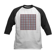 Red Purple Green Plaid Print Tee