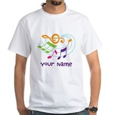 Personalized Music Swirl Shirt