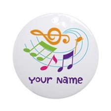Personalized Music Swirl Ornament (Round)