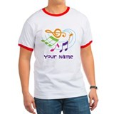 Personalized Music Swirl T