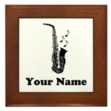Saxophone Music Framed Tile Award