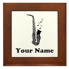 Saxophone Music Framed Tile Award