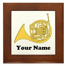 Personalized Horn Custom Framed Tile