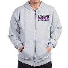 Think Purple Pancreatic Cancer Zip Hoodie