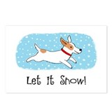 Jack Russell Let it Snow Postcards (Package of 8)
