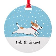 Jack Russell Let it Snow Ornament