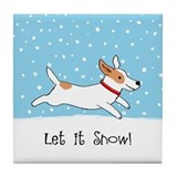 Jack Russell Let it Snow Tile Coaster