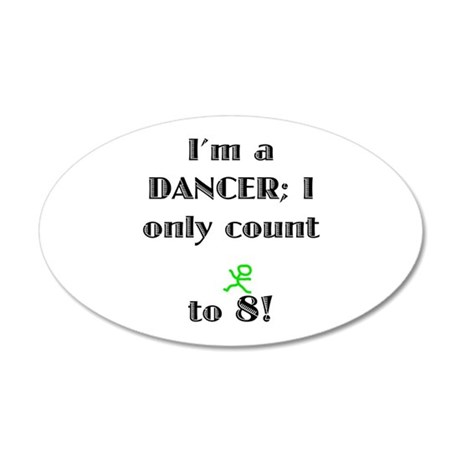 Only Count To 8 20x12 Oval Wall Decal