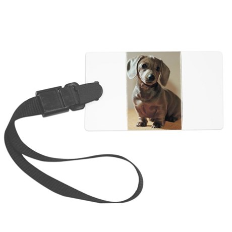 Dachshund Puppy Large Luggage Tag