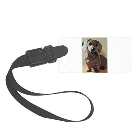 Dachshund Puppy Small Luggage Tag