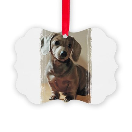Dachshund Puppy Picture Ornament