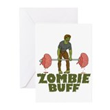 Zombie Buff Greeting Cards (Pk of 20)
