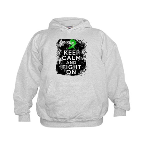 Kidney Disease Keep Calm Fight On Kids Hoodie