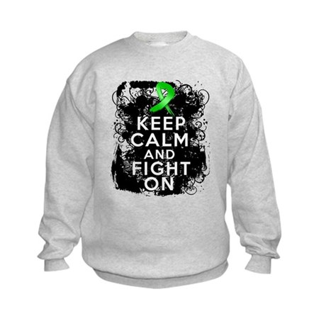 Kidney Disease Keep Calm Fight On Kids Sweatshirt