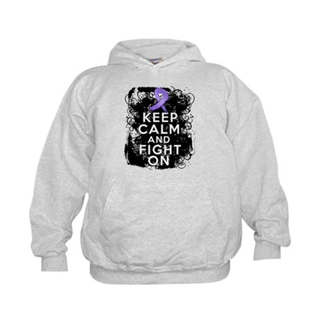 Hodgkins Lymphoma Keep Calm Fight On Kids Hoodie