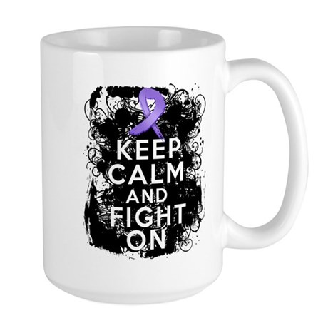 Hodgkins Lymphoma Keep Calm Fight On Large Mug