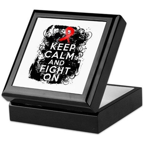 Heart Disease Keep Calm Fight On Keepsake Box